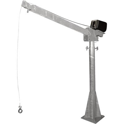 Vestil WTJ-20-3-AC-GAL AC Powered Jib Crane, Galvanized, ...