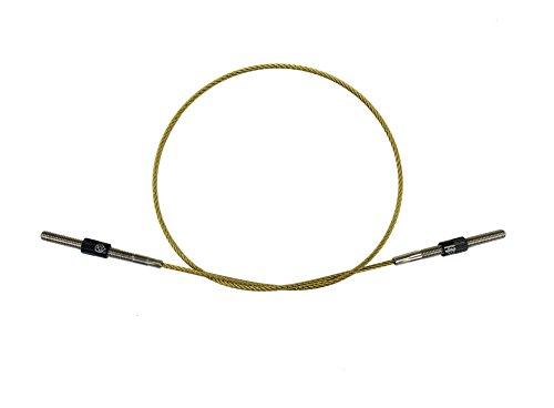 Wire Double Action (MI&VI Titanium Alloy Tail Gut/Tailgut, Wire Adjuster, Strand Connectors (Double Bass 4/4-3/4 (Black Screws)))
