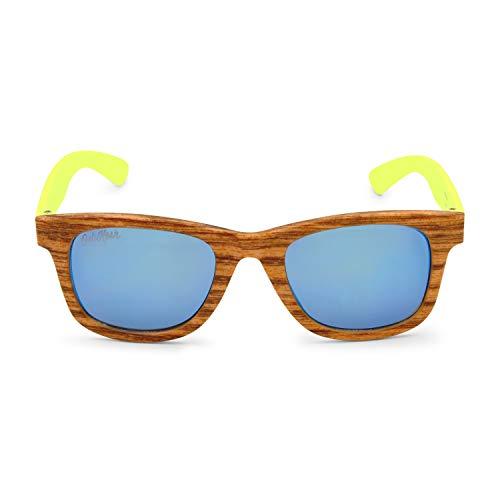 OshKosh B'Gosh Little Boys Classic Wood Print Sunglasses, Brown, 4-8 -