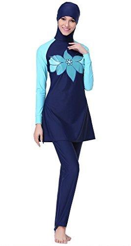 a2eea03db9 Ababalaya Women s Burkini Swimsuit Muslim Swimwear Hijab Swimsuit Tag Size  XXL US Size 10-