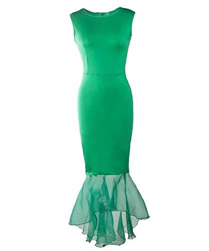 Contrasto Maglia Abito Sirena Verde Cocktail Coolred Delle Donne Da Di Party Magro wqE0nRdfTq