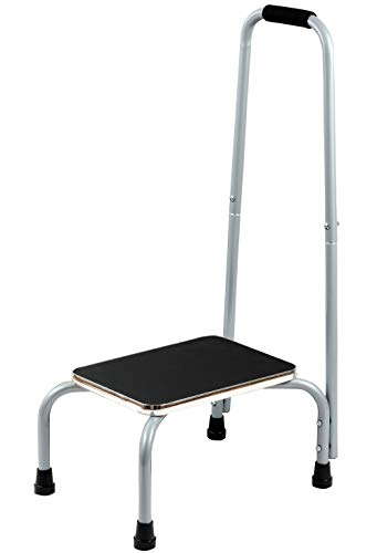 Bundaloo Support Step Stool | Best Foot Stool for Hospital Bed, Kitchen Shelving, Bath Tub | Non-Slip Rubber Handle, Platform, Feet for Extra Safety | for Adults & Kids in Home or Medical Setting
