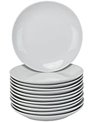 "10 Strawberry Street Coupe Round Catering Packs - Set of 12 - 7.5"" Salad/Dessert Plates - White"