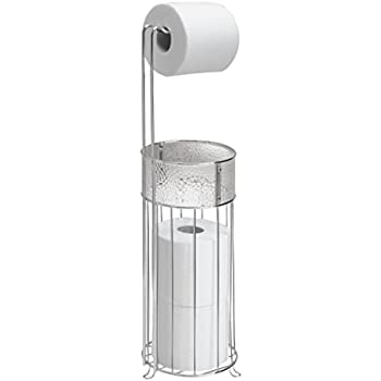 free standing toilet paper holder brushed nickel with magazine rack polished satin freestanding bathroo