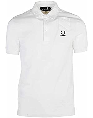 Men's SM141121100 White Cotton Polo Shirt