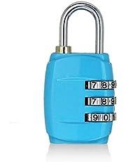 BIUDUI Bagageslot, cijferslot, hangslot, slot, kabelslot, metalen slot, voor fitnessstudio, bagagekast, mini anti-diefstalbagage