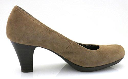 Tacchi Spillo Marrone Scarpe Tamaris Donna Scamosciata Pelle Plateau Con A UwCdTqx