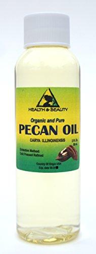 Pecan Oil Refined Organic Carrier Cold Pressed Premium 100% Pure 2 oz