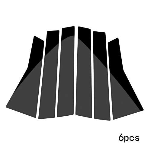(Merssavo Glossy Black Pillar Posts for Honda Civic 2016-2018 6pc Set Window Trim Cover)