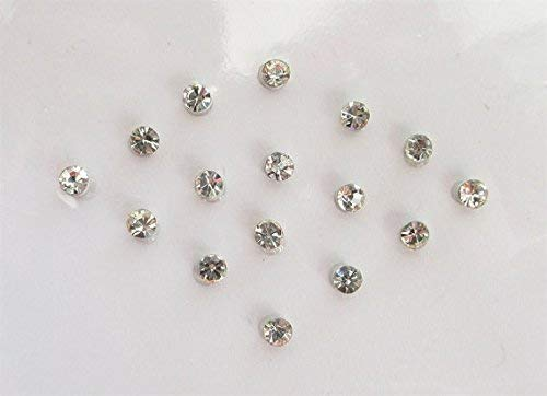 15 Silver 2 mm Clear Crystals Stick On Jewels, Fake Nose Stud, Costume Jewels, Stone Bindis, Stone Face Jewels