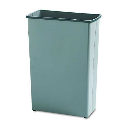 Safco Products 9618CH Rectangular Wastebasket, 88-Quart, Charcoal