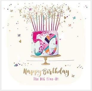 Tarjeta de felicitación (TP-® SFE30014) - 50 cumpleaños ...