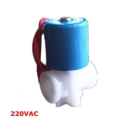 WSF-Adapters 1pc 220Vac Solenoid Valve,1//4 Water Valve Normally Closed 2 Way 0-120PSI