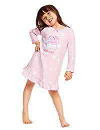 Peppa Pig Nightgown For Toddlers - Soft & Warm Sleepwear - Pink PJ Gown-3