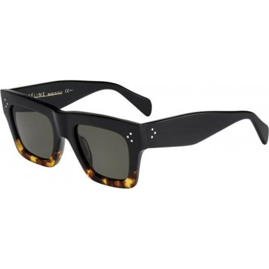 Celine 41054/S Sunglasses-0FU5 Black Havana Tortoise (1E Green - Celine Glasses