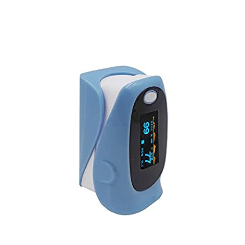 GPYOJA Fingertip Pulse Oximeter & Blood Oxygen Saturation Monito With OLED Display - Heart Rate Monitor For Adult,with carrying case(Jet Black)lanyard,with Alarm setting,CE Approved - Digit Finger Pulse Oximeter