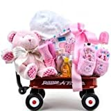 Baby Girl Radio Flyer Wagon Gift Basket