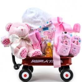 Baby Girl Radio Flyer Wagon Gift Basket
