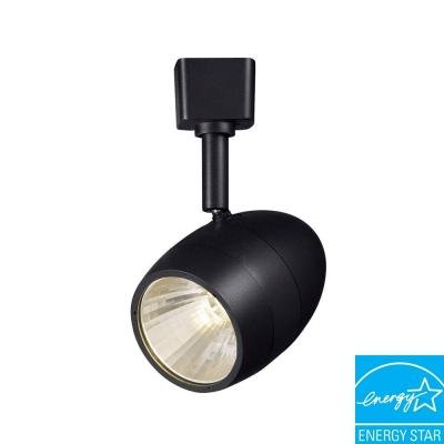 Hampton Bay 1-Light 2.56 in. White LED Dimmable Track Lighting Fixture