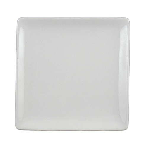 Square Porcelain Plate Undecorated - Vertex China AV-SQ5 Ventana Square Plate, 5