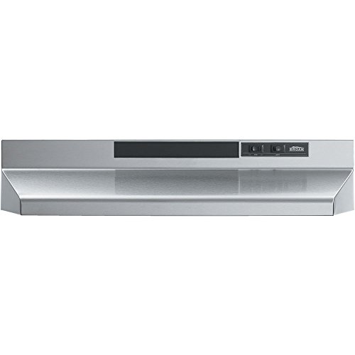 Broan-Nutone  F402404  Convertible Range Hood Insert with Light, Exhaust Fan for Under Cabinet, Stainless Steel, 160 CFM, 24″