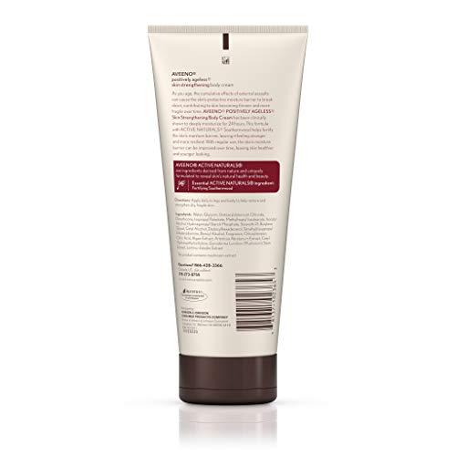 31D 6eKAc0L - Aveeno Positively Ageless Skin Strengthening Body Cream, Moisturizes For 24 Hours 7.3 Oz