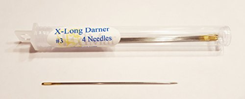 Gold Eye Extra-Long Darners Needles Size 3 Pkg of 4 ()