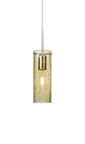 Besa Lighting 1JT-JUNI10GD Juni 10 - One Light Cord Pendant with Flat Canopy, Gold Bubble Glass