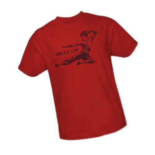 Line Kick -- Bruce Lee Youth T-Shirt, Youth Medium Movie Line Youth T-shirt