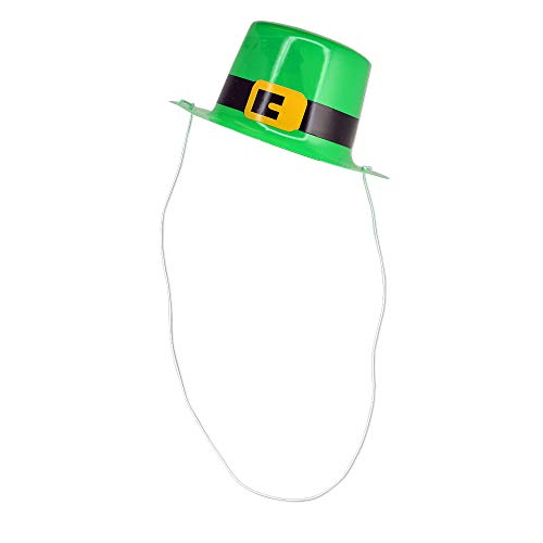 Mini Green Leprechaun Top Hats for St. Patrick's Day - Pack of 12