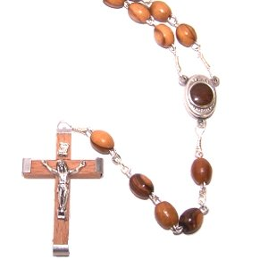 (Olive Wood Rosary with Soil From Bethlehem - HolyLandMarket special)