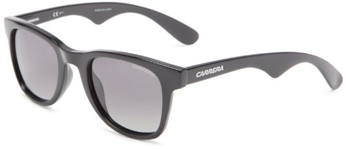 Carrera 6000/S Sunglasses-0D28 Shiny Black (WJ Gray Polarized - Sunglasses 6000 Carrera
