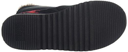 DearfoamsTwo-button Boot With Memory Foam - Zapatillas bajas para mujer Negro (Negro 00001)