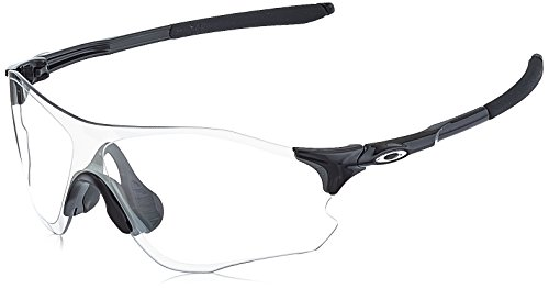 Oakley Men's OO9308 EVZero Path Shield Sunglasses, Polished Black/Clear To Black Photochromic, 38 ()