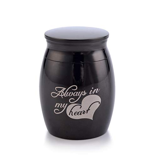 (Sunling in My Heart Engraved Small Stainless Steel Decorative Memorial Keepsake Cremation Urns Jar for Human Pet Ashes Funeral Bottle Holder for)