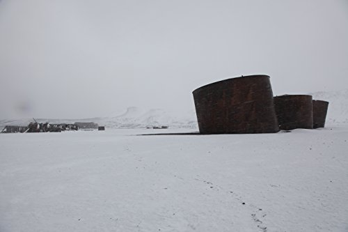 On a snowy summer day in the South Shetland Islands, Antarctica. (Baseballs For Shetland)