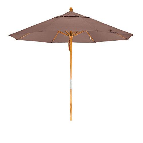 California Umbrella 9' Round Hardwood Pole Fiberglass Rib...