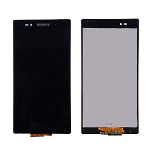 E-League(TM)Grade A+ Sony Xperia Z Ultra XL39h LCD,Black LCD Display Touch Digitizer Screen Assembly Replacement for Sony Xperia Z Ultra XL39h C6802 C6806 6.44 inch with Tool+Tempered Glass (Sony Xperia Z Screen Protector)
