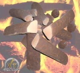 11/Juego de le/ños de cer/ámica para chimeneas de bioetanol cer/ámica Madera