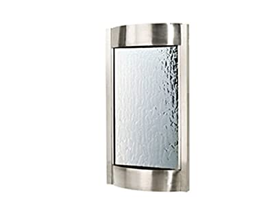 "MyEasyShopping 36"" Contempo Alto Indoor Wall Fountain, Brushed Stainless with Silver Mirror"