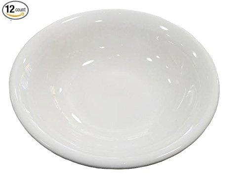 Thunder Group 1 Dz White Porcelain Round Sauce/Side Dishes (3.75