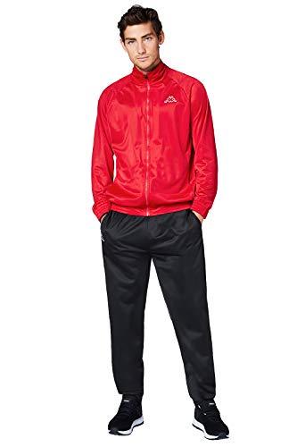 Kappa Trainingsanzug Villos für Herren, bequemer Tracksuit für Sport, Freizeit und Reisen, die Jogginghose & Trainingsjacke sind atmungsaktiv, schnell trocknend, Größe S-XXL