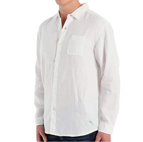 - Tommy Bahama Men's Sea Glass Breezer Long Sleeve Shirt White XXX-Large