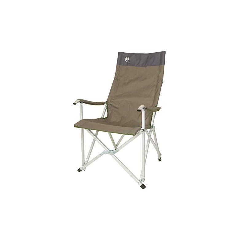 Coleman Faltstuhl Sling Chair mit Aluminiumgestell Zum Relaxen, Campingstuhl mit Armlehnen und hoher Rückenlehne…