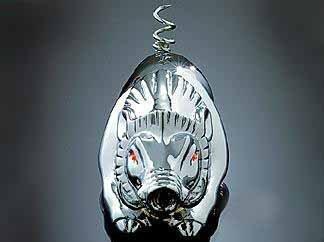 Kuryakyn 9022 Chrome Wild Boar Fender Ornament For Harley-Davidson
