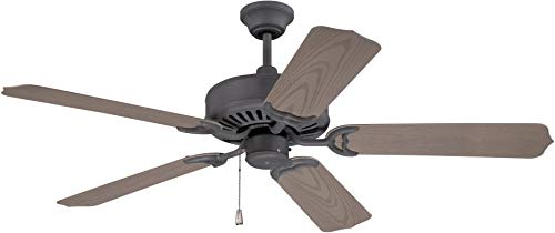 - Craftmade K11240 Protruding Mount, 5 Weathered Pine Blades Ceiling fan, Oiled Bronze