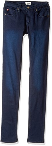 HUDSON Girls' Big Christa Skinny French Terry, Canal Blue, 12 by HUDSON
