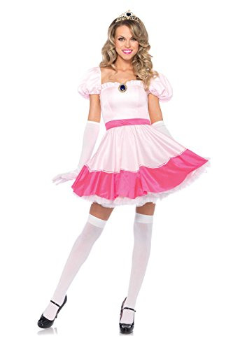 Mario Characters Costumes (Leg Avenue Women's Pink Princess Costume, Pink, Medium)