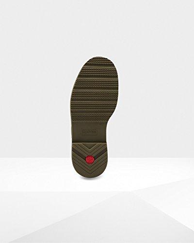 Hunter Insulated Waterproof Commando Boots Light Khaki/Brown/Swamp Green, Size 9