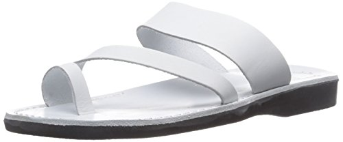 discount websites how much sale online Jerusalem Sandals Men's Zohar Slide Sandal White pay with paypal cheap price big discount 5aUs0v